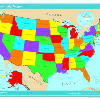 United States Map Color